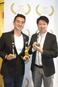 Producer Kenny Chan and lead actor John Yiu